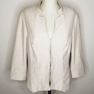Dressbarn | Light Tan Knit Blazer Career Wear